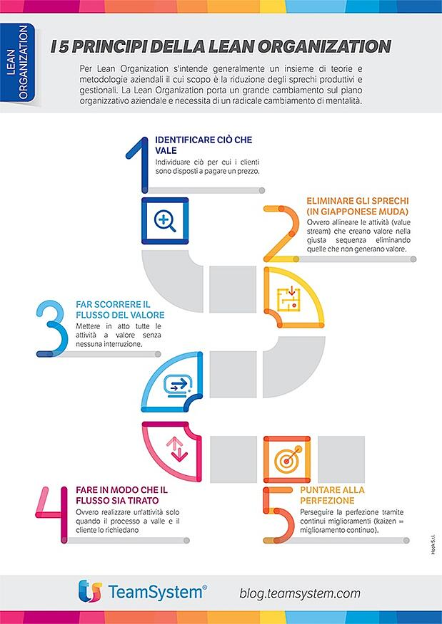 Principi Lean Organization -Infografica Blog di Alyante