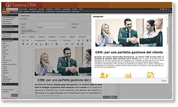 Prove di invio newsletter - TeamSystem CRM